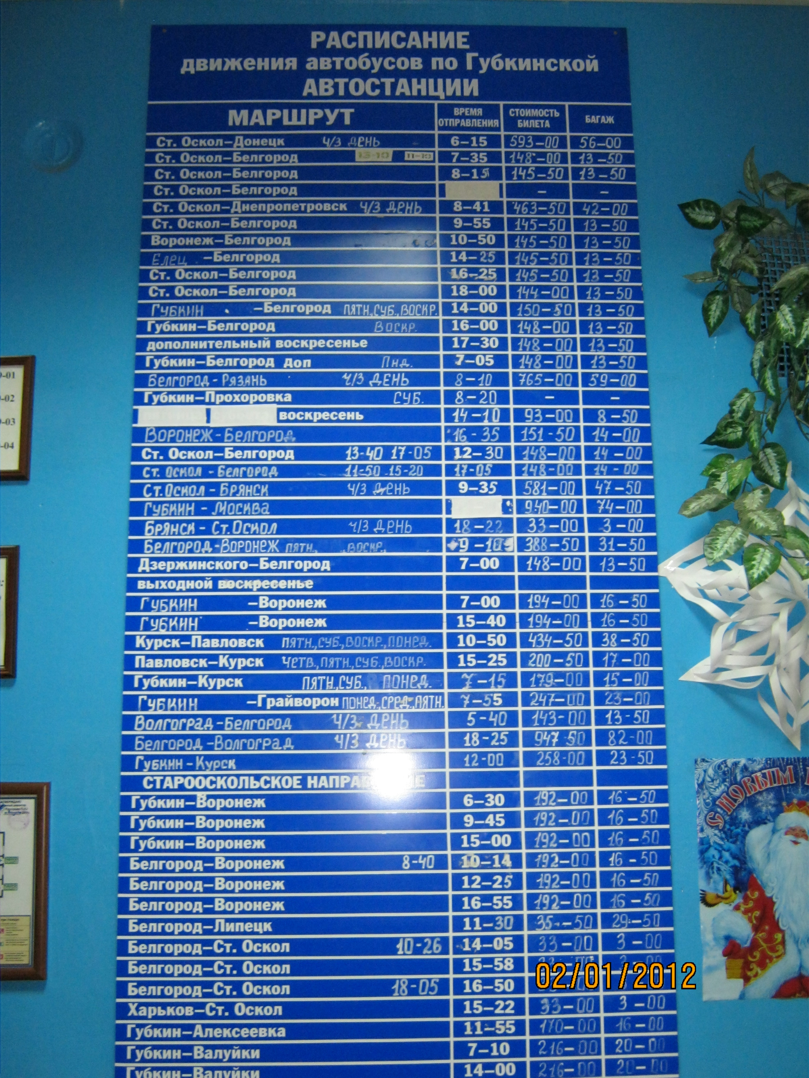 отелей расписание автобусов белгород курск следящим